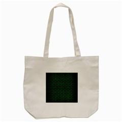 Brick1 Black Marble & Green Brushed Metal Tote Bag (cream)