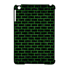 Brick1 Black Marble & Green Brushed Metal Apple Ipad Mini Hardshell Case (compatible With Smart Cover)
