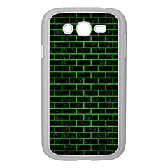 Brick1 Black Marble & Green Brushed Metal Samsung Galaxy Grand Duos I9082 Case (white)