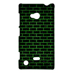 Brick1 Black Marble & Green Brushed Metal Nokia Lumia 720
