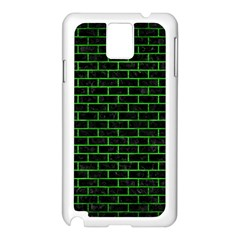 Brick1 Black Marble & Green Brushed Metal Samsung Galaxy Note 3 N9005 Case (white)