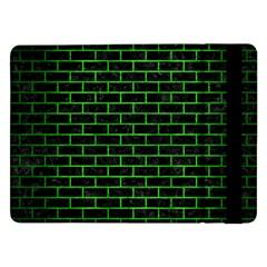 Brick1 Black Marble & Green Brushed Metal Samsung Galaxy Tab Pro 12 2  Flip Case