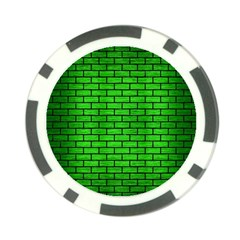 Brick1 Black Marble & Green Brushed Metal (r) Poker Chip Card Guard
