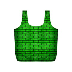 Brick1 Black Marble & Green Brushed Metal (r) Full Print Recycle Bags (s)