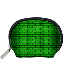 Brick1 Black Marble & Green Brushed Metal (r) Accessory Pouches (small)