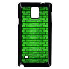 Brick1 Black Marble & Green Brushed Metal (r) Samsung Galaxy Note 4 Case (black)