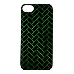 Brick2 Black Marble & Green Brushed Metal Apple Iphone 5s/ Se Hardshell Case