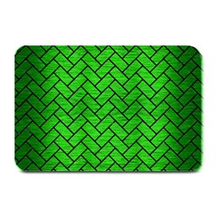 Brick2 Black Marble & Green Brushed Metal (r) Plate Mats