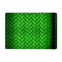 Brick2 Black Marble & Green Brushed Metal (r) Apple Ipad Mini Flip Case