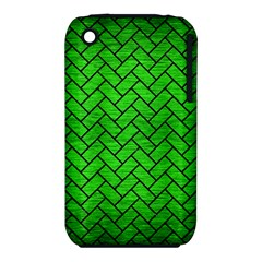 Brick2 Black Marble & Green Brushed Metal (r) Iphone 3s/3gs