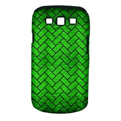 Brick2 Black Marble & Green Brushed Metal (r) Samsung Galaxy S Iii Classic Hardshell Case (pc+silicone)