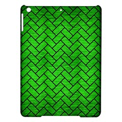 Brick2 Black Marble & Green Brushed Metal (r) Ipad Air Hardshell Cases