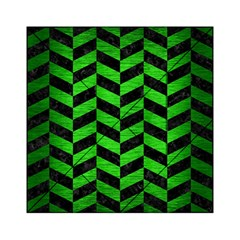 Chevron1 Black Marble & Green Brushed Metal Acrylic Tangram Puzzle (6  X 6 )
