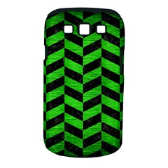 Chevron1 Black Marble & Green Brushed Metal Samsung Galaxy S Iii Classic Hardshell Case (pc+silicone)