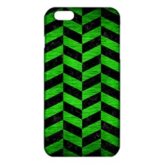 Chevron1 Black Marble & Green Brushed Metal Iphone 6 Plus/6s Plus Tpu Case