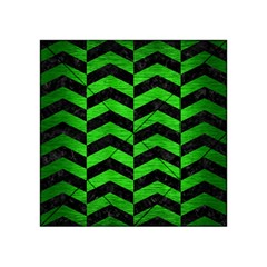 Chevron2 Black Marble & Green Brushed Metal Acrylic Tangram Puzzle (4  X 4 )