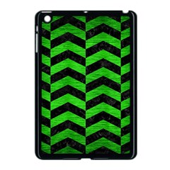Chevron2 Black Marble & Green Brushed Metal Apple Ipad Mini Case (black)