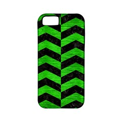 Chevron2 Black Marble & Green Brushed Metal Apple Iphone 5 Classic Hardshell Case (pc+silicone)