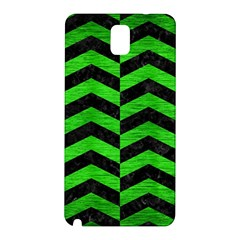 Chevron2 Black Marble & Green Brushed Metal Samsung Galaxy Note 3 N9005 Hardshell Back Case