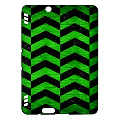 Chevron2 Black Marble & Green Brushed Metal Kindle Fire Hdx Hardshell Case