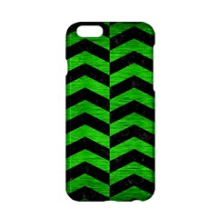 Chevron2 Black Marble & Green Brushed Metal Apple Iphone 6/6s Hardshell Case