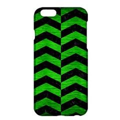 Chevron2 Black Marble & Green Brushed Metal Apple Iphone 6 Plus/6s Plus Hardshell Case