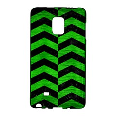 Chevron2 Black Marble & Green Brushed Metal Galaxy Note Edge