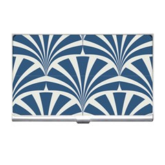 Teal,white,art Deco,pattern Business Card Holders