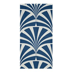 Teal,white,art Deco,pattern Shower Curtain 36  X 72  (stall)
