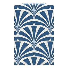 Teal,white,art Deco,pattern Shower Curtain 48  X 72  (small)