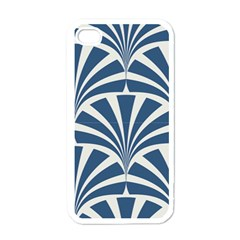 Teal,white,art Deco,pattern Apple Iphone 4 Case (white)