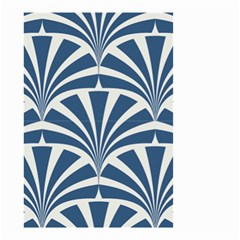 Teal,white,art Deco,pattern Small Garden Flag (two Sides)