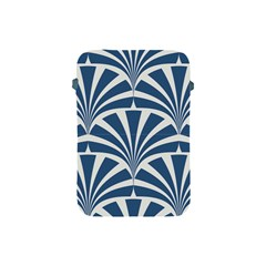Teal,white,art Deco,pattern Apple Ipad Mini Protective Soft Cases