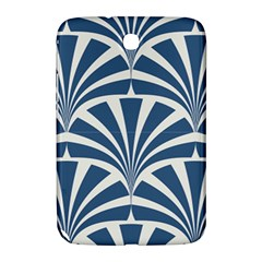 Teal,white,art Deco,pattern Samsung Galaxy Note 8 0 N5100 Hardshell Case