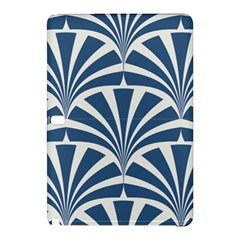 Teal,white,art Deco,pattern Samsung Galaxy Tab Pro 12 2 Hardshell Case