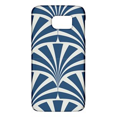 Teal,white,art Deco,pattern Galaxy S6