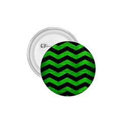 Chevron3 Black Marble & Green Brushed Metal 1 75  Buttons