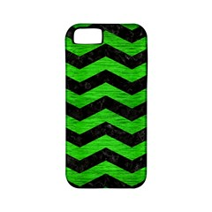 Chevron3 Black Marble & Green Brushed Metal Apple Iphone 5 Classic Hardshell Case (pc+silicone)