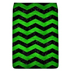 Chevron3 Black Marble & Green Brushed Metal Flap Covers (l)