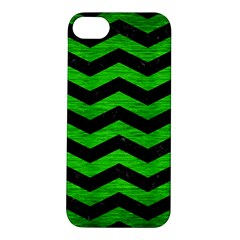 Chevron3 Black Marble & Green Brushed Metal Apple Iphone 5s/ Se Hardshell Case