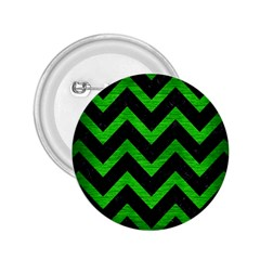 Chevron9 Black Marble & Green Brushed Metal 2 25  Buttons