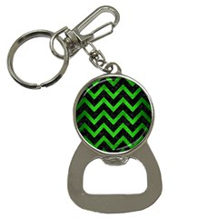 Chevron9 Black Marble & Green Brushed Metal Button Necklaces