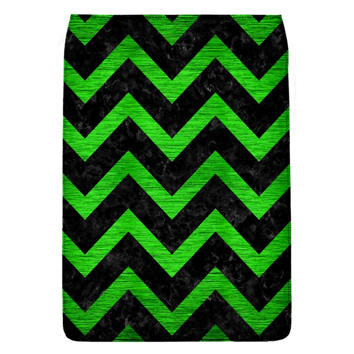 CHEVRON9 BLACK MARBLE & GREEN BRUSHED METAL Flap Covers (S)