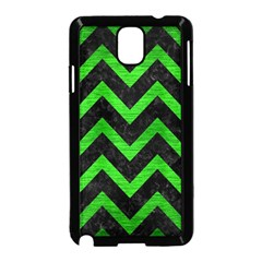 Chevron9 Black Marble & Green Brushed Metal Samsung Galaxy Note 3 Neo Hardshell Case (black)