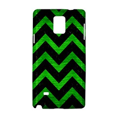 Chevron9 Black Marble & Green Brushed Metal Samsung Galaxy Note 4 Hardshell Case