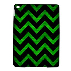 Chevron9 Black Marble & Green Brushed Metal Ipad Air 2 Hardshell Cases