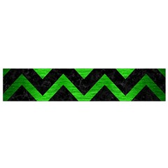 Chevron9 Black Marble & Green Brushed Metal Flano Scarf (small)