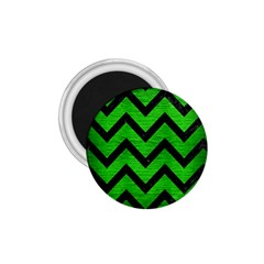 Chevron9 Black Marble & Green Brushed Metal (r) 1 75  Magnets