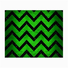 Chevron9 Black Marble & Green Brushed Metal (r) Small Glasses Cloth