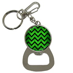 Chevron9 Black Marble & Green Brushed Metal (r) Button Necklaces